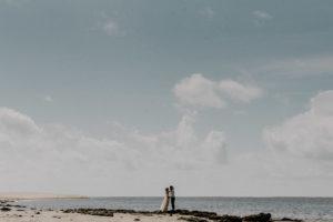 mariage sur la plage d'Arcachon, marée basse