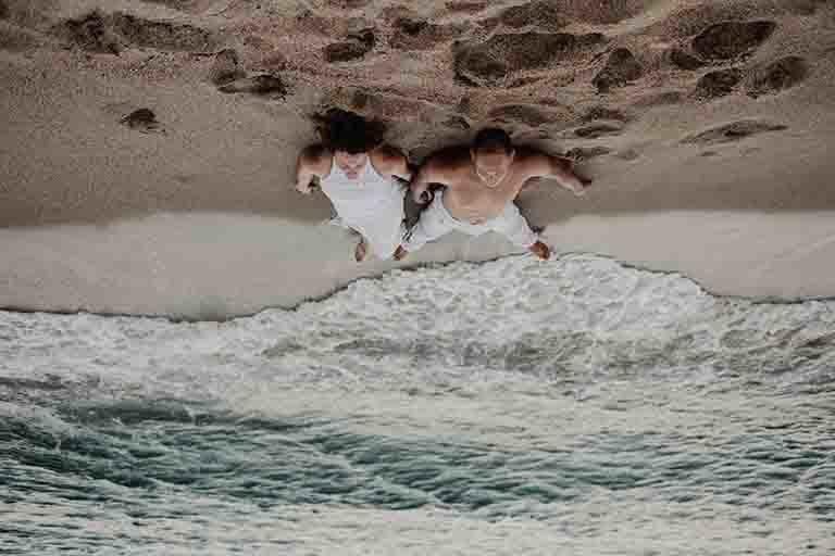 Séance engagement à la mer à Leucate